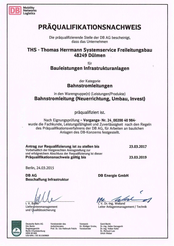 THS: Zertifizierungen
